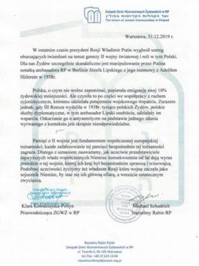 oświadczenie Naczelnego Rabina RP